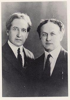 Howard Thurston and Harry Houdini