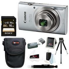 Canon PowerShot ELPH 180 20 MP Digital Camera (Silver) + Sony 16GB Memory Card + Focus Medium Point & Shoot Camera Accessory Bundle http://cameras.henryhstevens.com/shop/canon-powershot-elph-180-20-mp-digital-camera-silver-32gb-bundle/?attribute_pa_color=silver&attribute_pa_style=16gb-bundle https://images-na.ssl-images-amazon.com/images/I/51dp%2BCYWA2L.jpg