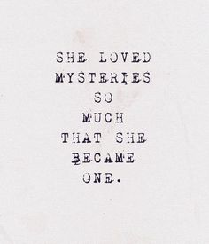 she became one.