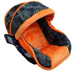 Nollie Covers Baby Hunter Orange Boy Infant Car Seat Cover