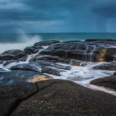 South Africa has truly magnificent beaches! This is close to splash rock in Port Edward. It was raining when I took this but it still made an incredible shot! What do you think? Landscape Photography, Travel Photography, Jurassic Coast, Solo Travel, Landscape Design, South Africa, Waterfall, The Incredibles, Ocean