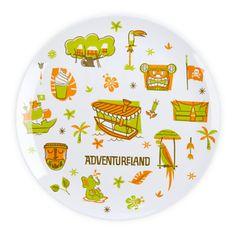 Walt Disney World Plates #Adventureland from the Magic Kingdom Maps Collection. LOVE!!