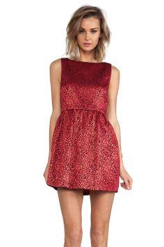 Alice + Olivia Vita Sleeveless Tulip Dress in Red from REVOLVEclothing