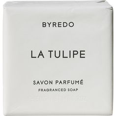 Byredo La Tulipe Soap Bar 150g ($30) ❤ liked on Polyvore featuring beauty products, bath & body products, body cleansers, fillers, beauty, cosmetics, makeup, white, colorless and body cleanser
