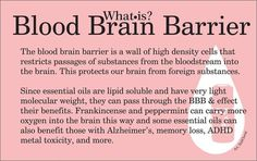What is the Blood Brain Barrier? Frankincense and peppermint are fantastic essential oils for transporting oxygen to the brain. They can aid those suffering with Alzheimers, ADHD, memory loss and more Transform your home and your medicine cabinet with Young Living Essential Oils in The Nest! Total wellness begins in the home, & we want to teach you!