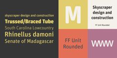 FF Unit Rounded Font: German type designer Erik Spiekermann and American type designer Christian Schwartz created this display and sans FontFont in Great Fonts, All Fonts, Web Languages, Round Font, Contemporary Fonts, Font Face, Web Project, Round Design, Create Image
