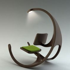 Just love this - imagine this for a reading chair. Not a wheelchair as the name suggest but a rocking chair. The Rocking Wheel-Chair Funky Furniture, Unique Furniture, Furniture Design, Furniture Ideas, Office Furniture, Pipe Furniture, Painted Furniture, Decoupage Furniture, Recycled Furniture