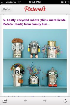 Robot (think Mr. Potato head) craft, from a follower of MPMK