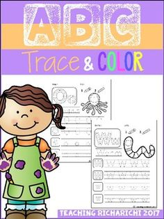 Inside you will find 26 Alphabet Trace and Color Pages.These are great for beginner writer.Trace the letters from A-Z and color the pictures.I would appreciate your feedback.If you like it make sure to checkout my other products.If you have any questions, feel free to contact me at :teachingricharichi@gmail.com
