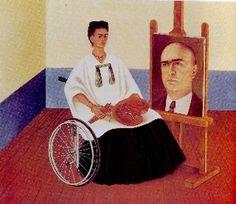 Autorretrato con el retrato del Dr. Farill  1951 Óleo sobre fibra dura 41,5 x 50 cm. Galería Arvil  Ciudad de México