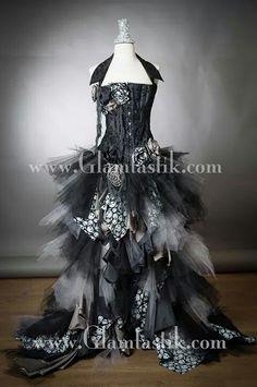 Nightmare Before Christmas Inspired Wedding Dress! ♥♡♥