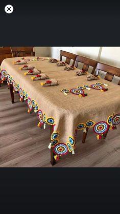 Crochet Cardigan, Crochet Shawl, Crochet Doilies, Crochet Flowers, Knit Crochet, Crochet Mandala Pattern, Crotchet Patterns, Toy Net, Diwali Decoration Items