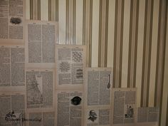 Forever Decorating!: Beautiful Book Page WALLS!