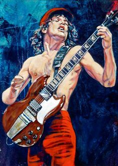 Angus Young's Guitars and Gear Angus Young, Hard Rock, Rock Band Posters, Rock And Roll Bands, Rock Roll, Guitar Art, Rock Legends, Blues Rock, Woodstock