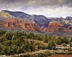 Beautiful View of Sedona after a snow storm ©Nadine and Bob Johnston