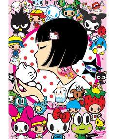 Tokidoki and Sanrio mash-up! Two super kawaii franchises in one. Gotta love it! Little Twin Stars, Sanrio Characters, Cute Characters, Japanese Culture, Japanese Art, Keroppi, Pyjamas Party, Hello Kitty Art, Otaku