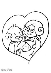 Grandparent's Day Coloring Pages (Printable for Free) | Portale Bambini