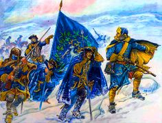 Carolean Death March: Swedish Foot Regiment retreating from Russia during the Great Northern War