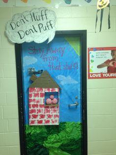 My drug awareness week door! Drug Free Door Decorations, Drug Free Week, Health Bulletin Boards, Red Ribbon Week, Club Poster, Health Class, Door Decorating, Class Decoration, Student Council