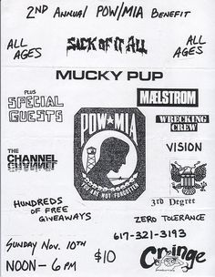 https://flic.kr/p/jYrmp | Sick Of It All | Sick Of It All, Mucky Pup, Maelstrom, Wrecking Crew, Vision, 3rd Degree and Zero Tolerance at the Channel, Boston MA.