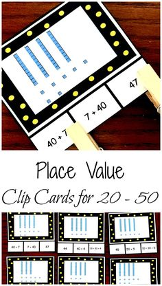 Get FREE Number Recognition Clip Cards With Expressions