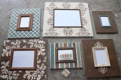 Distressed frames: Custom Listing for Claudia Pallet Crafts, Frame Crafts, Diy Frame, Wood Crafts, Painted Picture Frames, Picture Frame Decor, Picture On Wood, Distressed Frames, Gallery Wall Frames
