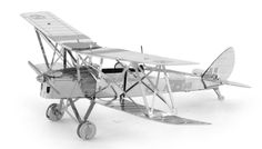 """Metal Earth de Havilland Tiger Moth 3D Laser Cut Model. These amazingly detailed models start as a 4"""" (100mm) square steel sheets and finish as amazing 3D models. www.alwayshobbies.com"""
