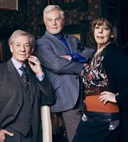 Vicious. Image shows from L to R: Freddie (Ian McKellen), Stuart (Derek Jacobi), Violet (Frances de la Tour). Image credit: Brown Eyed Boy. | I can't wait to see this!!!!!