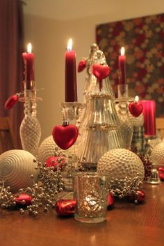 Valentine_Love Bougies romantiques Comme décorations