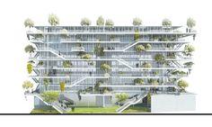 Galeria de NL*A divulga projeto de edifício corporativo ecológico na França - 5