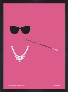 Breakfast at Tiffany's film quote poster