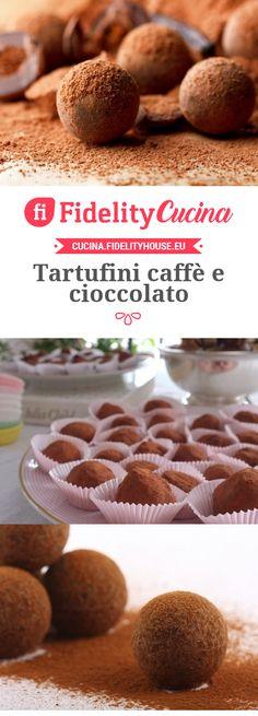 Tartufini coffee and chocolate recipe – Fidelity Cucina – Sweet World Ideas Cake Truffles, Chocolate Truffles, Chocolate Desserts, Nutella, Biscuit Cupcakes, Italian Cake, Confectionery, Italian Recipes, Food And Drink