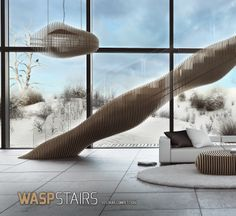 WASP stair by Mr. S. Palczynski - Finalist in the Custom Design Category of EeStairs Design Competition.