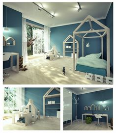 created by Elżbieta Pokrzywa Fun Projects, Kids Room, Toddler Bed, Interior, Dollhouses, Furniture, Home Decor, Child Bed, Room Kids
