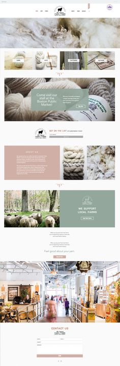 We stock our stall with yarn from close to a dozen farms from all over the New England area - Maine, Massachusetts, New Hampshire, and Vermont. Amazing Websites, Boston Public, Create Website, New Hampshire, Vermont, New England, Fiber, Web Design, Branding