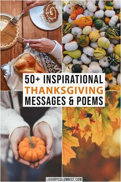 50  Inspirational Thanksgiving Messages, Poems and Sayings | Luxury Columnist