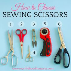 Read this guide to choosing the best cutting tools in sewing & the best sewing scissors. Tools for beginners on a budget all the way to advanced sewers. Scissors Design, Sewing Scissors, Fabric Scissors, Quilting For Beginners, Embroidery For Beginners, Sewing For Beginners, Sewing Basics, Sewing Hacks, Best Scissors