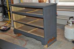 Anthony's dresser w/ 1st coat of graphite