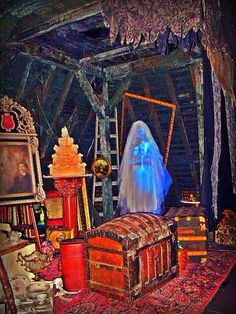 The attic in The Haunted Mansion