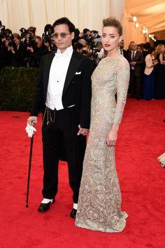 Johny Depp and Amber Herd at MET Gala 2014