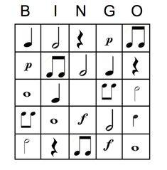 Music is Elementary: Music Notation Bingo