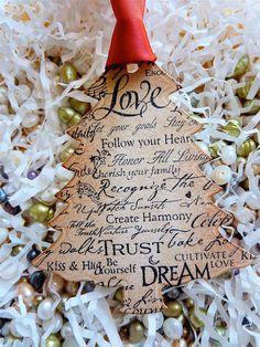 Love Sayings Christmas Tree Ornaments Etsy