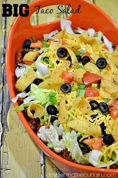 Big Taco Salad - Lady Behind The Curtain