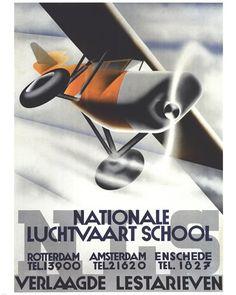 Nationale Luchtvaart School Fine-Art Print by Unknown at UrbanLoftArt.com
