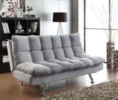 Coaster Eden Sofa Bed in Grey