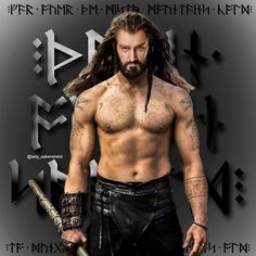Thorin shirtless - artwork since their is no padding. But Hot!