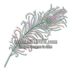 Best Custom Sparkling Rhinestone Beautiful Peacock Feather Hotfix Transfer Motif