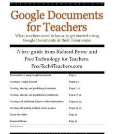 Google Docs for Teachers 2012  Downloaded easy to understand basic info for google docs