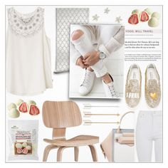 """♠ White Strawberry"" by paty ❤ liked on Polyvore featuring Modway, RVCA, Botkier, Chiara Ferragni and Topshop"