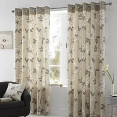 Check out the fantastic Annabella Ready Made Eyelet Curtains in Natural! Order now for super fast UK wide delivery! Ready Made Eyelet Curtains, Lined Curtains, Hanging Curtains, Made To Measure Blinds, Luxury Curtains, Window Types, Curtain Poles, Curtains With Rings, Modern Design